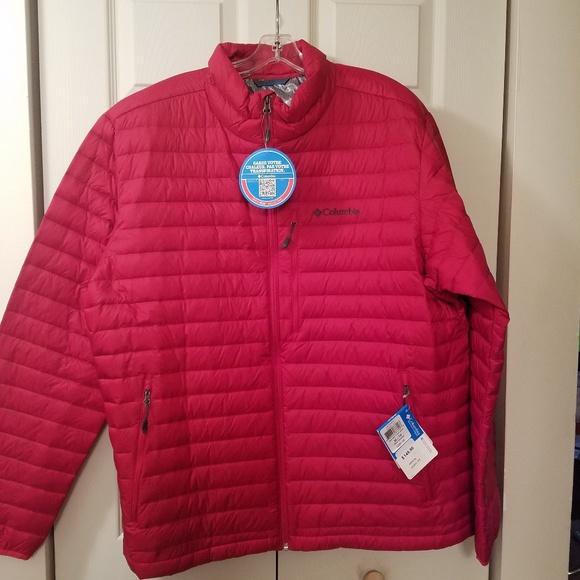 Columbia Men's Oaks Apex Down Jacket Red XL NWT